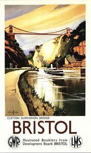 Bristol Clifton Suspension ENG Photochrome EPC090 Art Print A4 A3 A2 A1