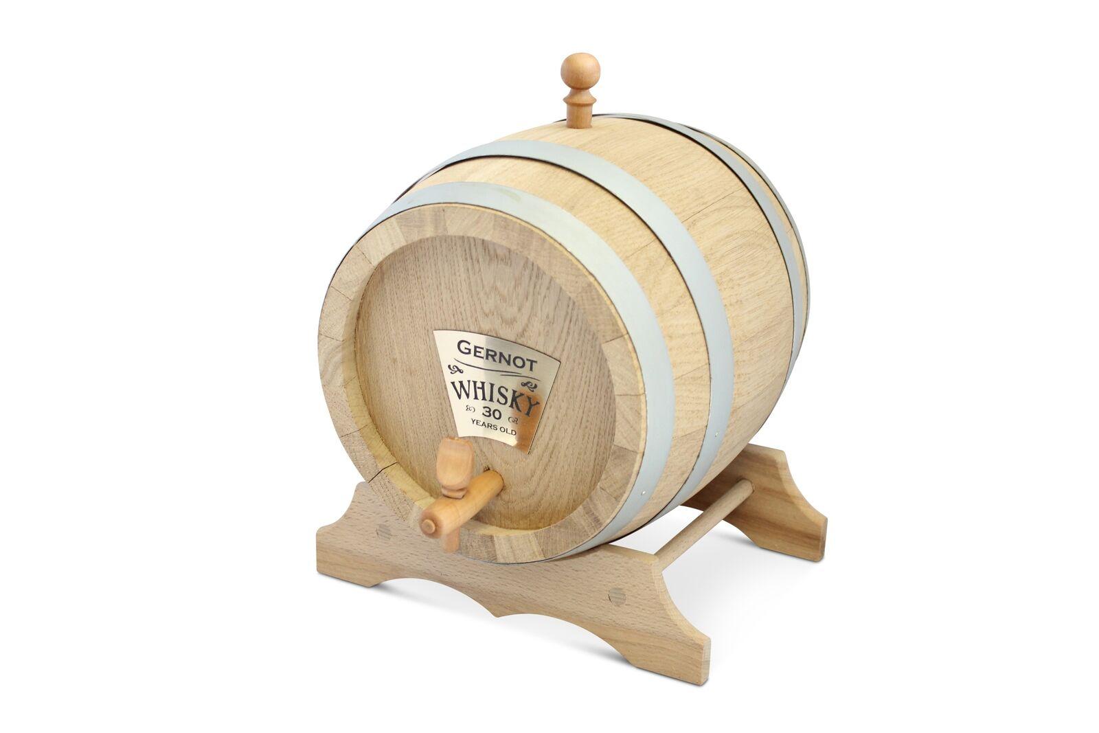 Eichenfass 10 Liter mit Personalisierung für Whisky, Brände, Wein