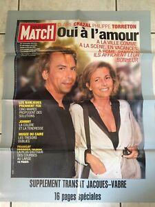 AFFICHE-Une-de-PARIS-MATCH-n-2946-2005-Claire-CHAZAL-Philippe-TORRETON