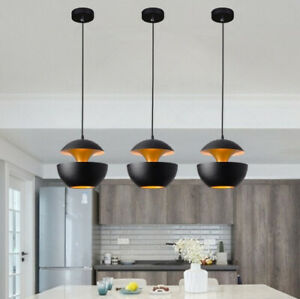 Black Pendant Light Bar Lamp Kitchen Pendant Lighting Room Modern Ceiling Light | EBay