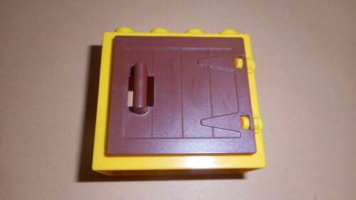 Lego Duplo Fenster gelb mit brauner Bauernhof tür