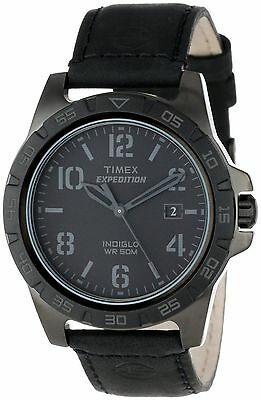 Timex Expedition Men's Black Leather  Indiglo Watch T49927 Date doesn't work
