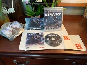 Defiance-Sony-PlayStation-3-PS3-GAME-COMPLETE-Manual-ALL-Inserts-PRISTINE-Shape