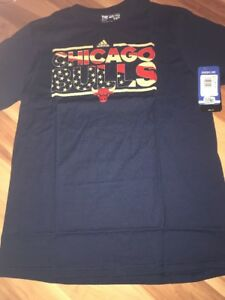 67d9aa8f7fdf adidas NBA Chicago Bulls Boy s Tee Shirt Size XL 18 Patriotic Logo ...