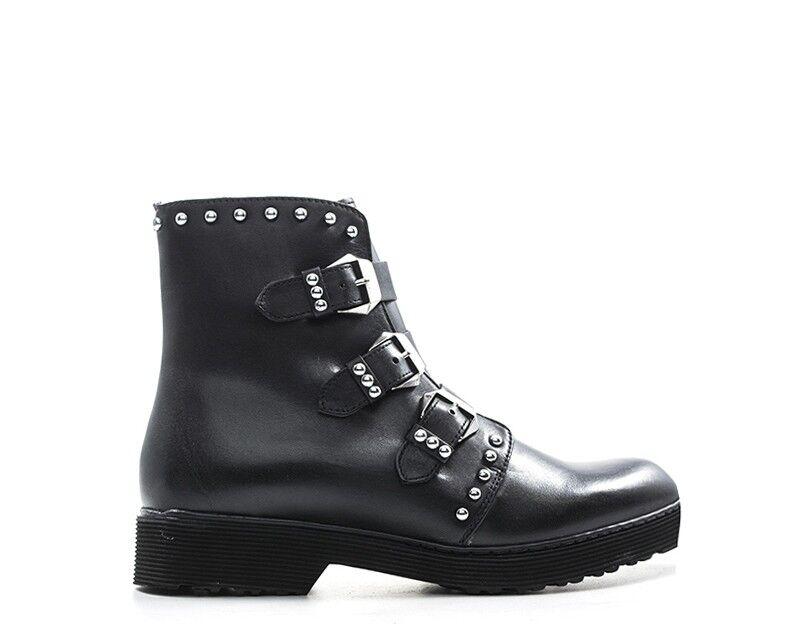 chaussures CULT femmes Anfibi  noir Pelle naturale CLE103089