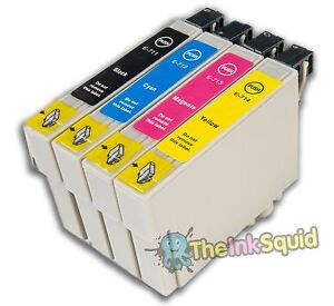 4-T0711-4-T0715-non-oem-Cheetah-Ink-Cartridges-fits-Epson-Stylus-DX4400-amp-DX4450