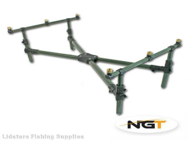 NEW Classic Fishing Rod Pod Short Fully Adjustable With Carry Case NGT