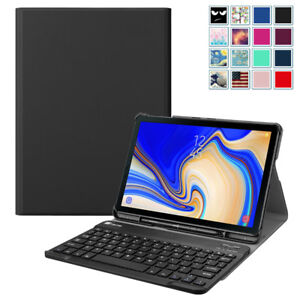 the best attitude 934a0 6961a Details about For Samsung Galaxy Tab S4 10.5 inch 2018 Tablet Case Cover w/  Bluetooth Keyboard