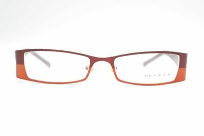 Diplomatisch Vintage Vulkan By Ivko V658 50[]18 140 Rot Orange Oval Brille Eyeglasses Nos