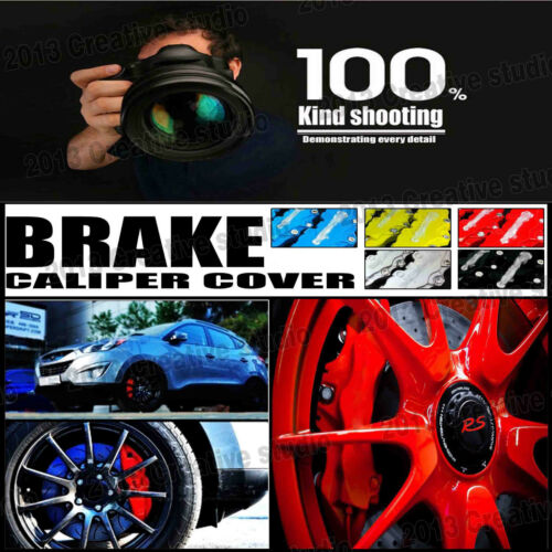"""4 Pcs Universal Sport Style Disc Brake Caliper Cover Front /& Rear Red 10.5/"""" LW04"""
