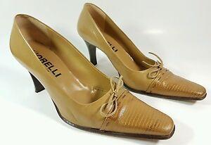 Fiorelli-Italian-made-tan-leather-high-heel-shoes-uk-7-eu-40