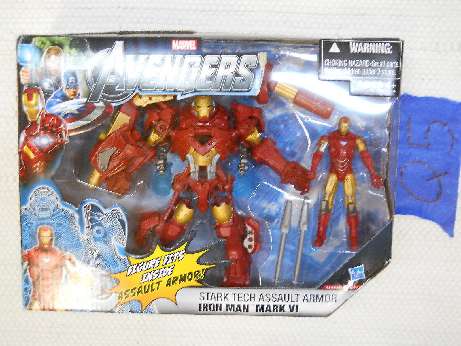 Q51 Hasbro Marvel Universe Lot AVENGER IRON uomo MARK VI estrellaK TECH ASSAULT ARMOR