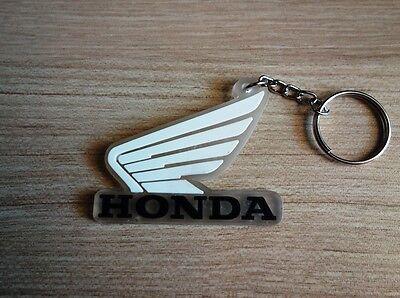 Honda classic Wing Logo Keychain Key Ring Rubber Motorcycle Car Bike ck#1