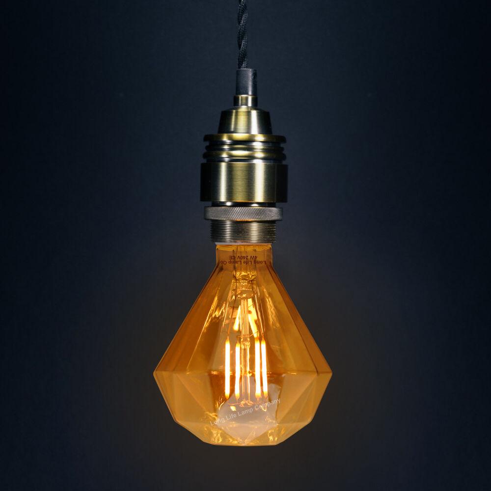 Vintage Classic Led 4w Edison Style Diamond Shape Filament
