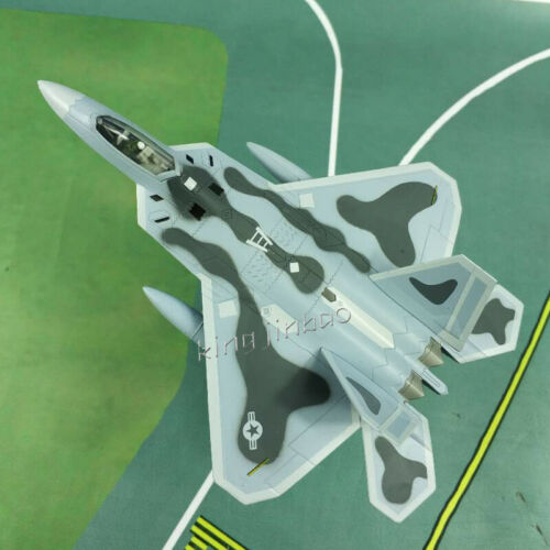 Scale 1/100 FOV Diecast US F22 Raptor Stealth Air Superiority Alloy Fighter Toys