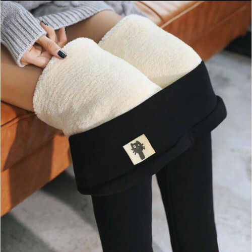 SUPER THICK CASHMERE LEGGINGS Winter Tight High Waist Pants Warm Pants