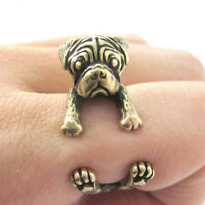 Pug Ring Adjustable Gold Color Dog and Puppy Lovers Fashion Jewelry AR-2