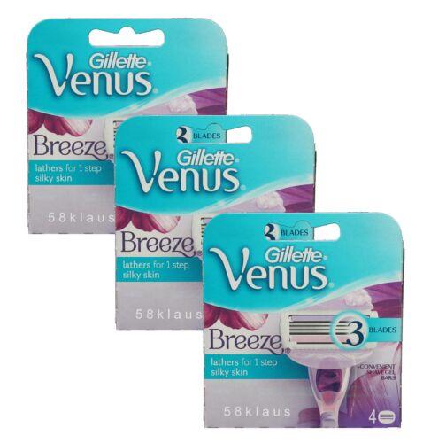 12 Gillette Venus Breeze Rasierklingen 3x 4er Pack = 12 Stück Klingen in OVP