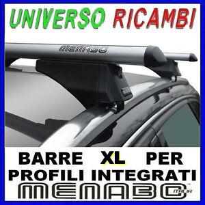 Barre-Portatutto-Menabo-TIGER-SILVER-135-AUDI-A4-8K-Avant-DAL-2008-AL-2014