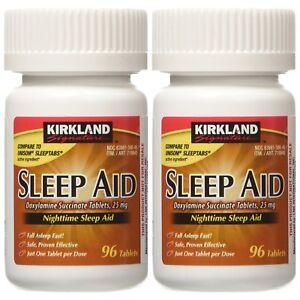 Kirkland Signature Sleep Aid Doxylamine Succinate 25 Mg 192-Tablets