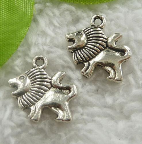 Free ship 80 pieces tibet silver lion charms 19x14mm B2161
