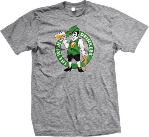 The Irish Drinkers Leprechaun St Patricks Day Beer Mug Pint Clover Mens T-shirt