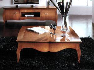 Tavolini Da Salotto Classici In Legno.Dettagli Su Tavolino In Legno Massello Da Salotto 110x110 Classico Quadrato In Vari Colori