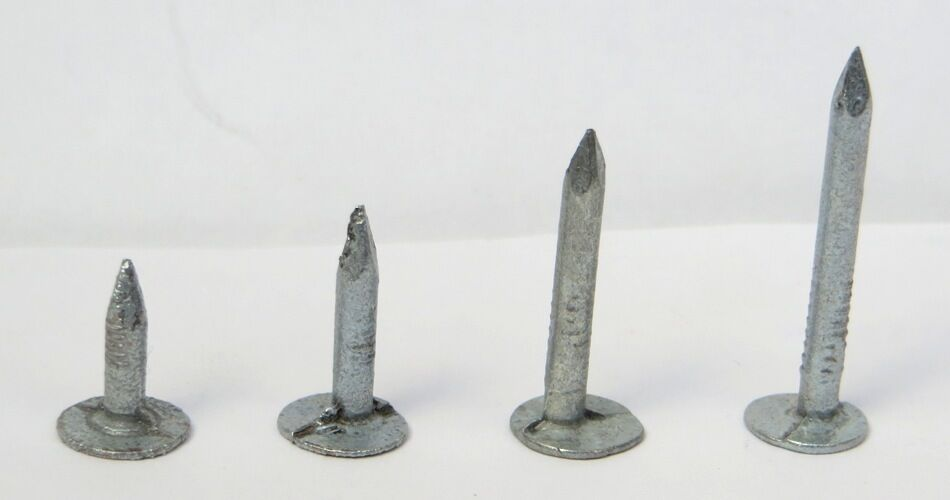 Nails Clout Galvanised Roofing 20mm 8mm Heads 450g Weatherproof Large Flat Head
