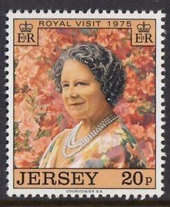JERSEY-Gomma-integra-non-linguellato-UMM-Stamp-Set-1975-SG-123-Royal-VISITA-REGINA-MADRE