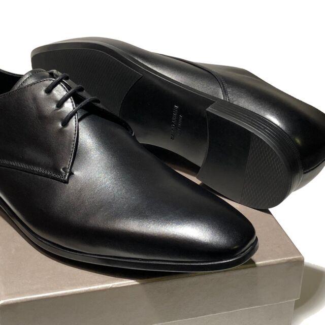 Giorgio Armani Mens Leather Lace-up