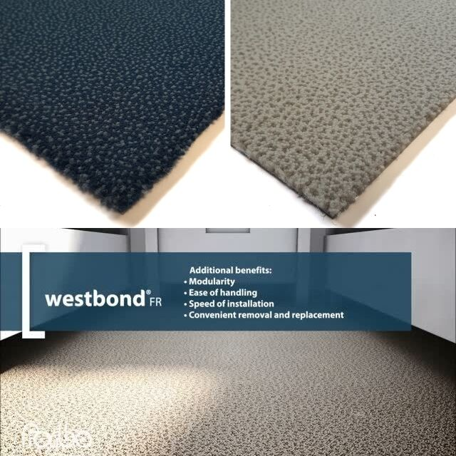 FORBO westbond dalles de moquette moquette moquette Oxford Sorbet Motif PVC support résistante NEUF cf437c