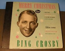 """Merry Christmas"" Bing Crosby & Andrews Sisters Decca 550 4 X 10"" 78 albums VG+!"