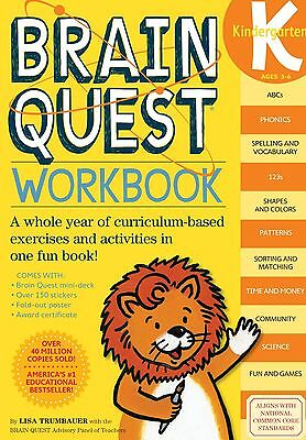 Brain Quest Workbook:Kindergarten by Lisa Trumbauer (Paperback)New Free Shipping