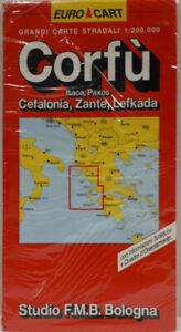 Paxos Cartina Geografica.Carta Stradale Corfu Itaca Paxos Cefalonia Zante Lefkada Studio Fmb Ebay