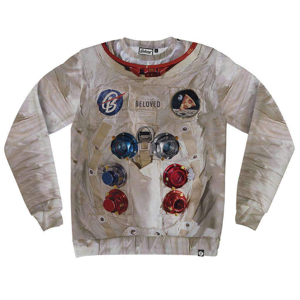 NEW Beloved Shirts ASTRONAUT SUIT SWEATSHIRT SMALL-3XLARGE CUSTOM MADE IN USA