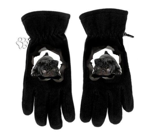 MOPS PUG Winterhandschuhe Handschuhe winter gloves fleece