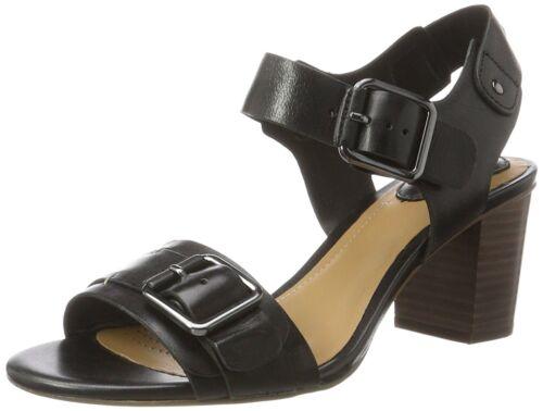 Sandalias Relene negro Wedge de para en color tamaño marrón Clarks Unido mujeres 6 Dazzle de Reino cuero tacón qrfwEnqxC