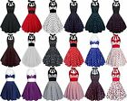 ROCKABILLY 50ER POLKA DOT KARNEVAL RETRO GOTHIC PINUP PETTICOAT PARTY TANZ KLEID