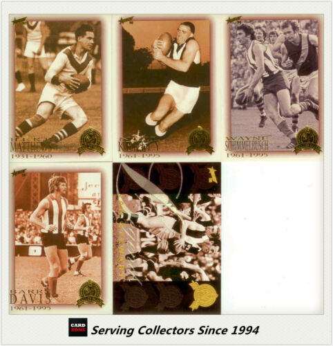 5 1998 Select AFL Trading Card Hall Of Fame Inductee 1997 Pack 5-card set