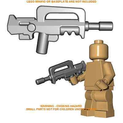 1x Custom Lego Grey French Assault Rifle Minifig gun Accessory Brick  Warriors | eBay