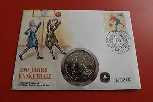 * Numisbrief 100 Ans De Basket 1991 Avec 1 Dollars Pièce/niué (alb14)-afficher Le Titre D'origine Apparence EsthéTique