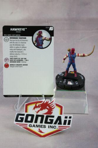 Marvel Heroclix Avengers Defenders War set Hawkeye #004 Common