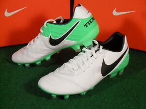 best sneakers d56b7 dd28d Details about New Mens Nike Tiempo Legacy II FG Soccer Football Cleats  Boots White Green $120