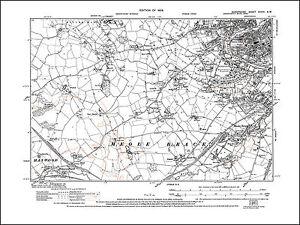 Shrewsbury SW, Meole Brace, Hanwoodbank, old map Shropshire 1929 ...