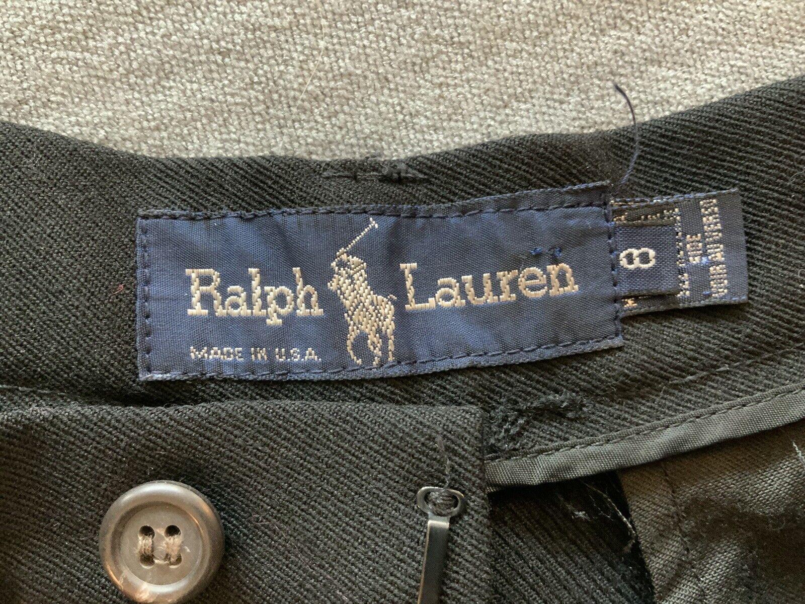 Vintage Ralph Lauren pants black 80s 90s - image 2