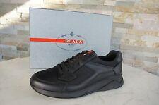 PRADA Gr 43,5 9,5 Hombre Zapatillas zapatos De Cordones negras nueva