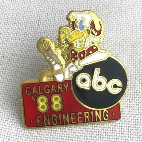* ABC Engineering TV Broadcasting Logo Hat Lapel Pin Calgary /'88 Winter Olympics