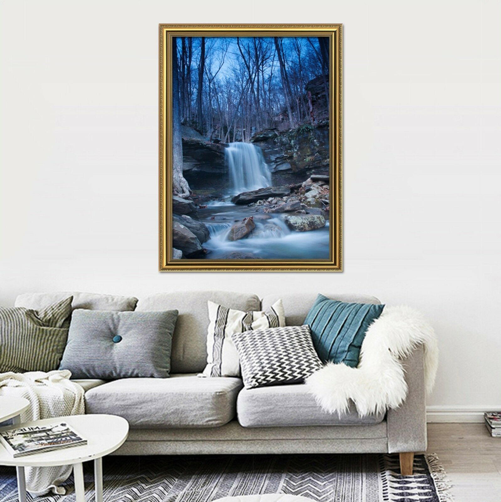 3D Grove Stream 575 Fake Framed Poster Home Decor Print Painting Unique Art