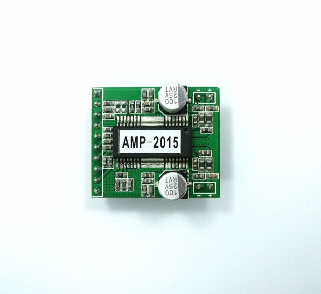AMP-2015 2x15W Class-D Stereo Audio Power Amplifier 8V~25V THD 0.1% Digital AMP