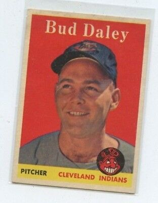 1958 Topps #222 Bud Daley Cleveland Indians RC Rookie Baseball Card